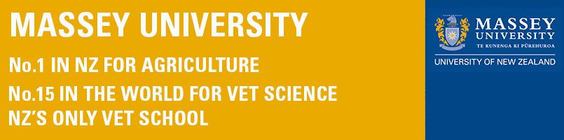 Massey University is no.1 in New Zealand in Agriculture and no.15 in the world in vet science